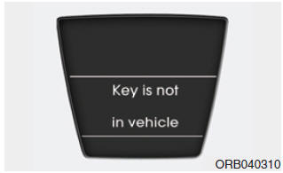 Key is not in vehicle