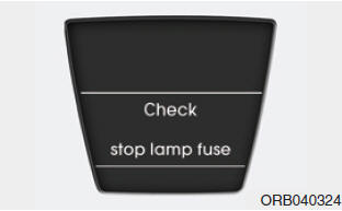 Check stop lamp fuse